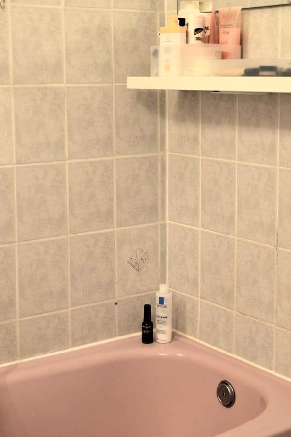An tile used in the bathroom