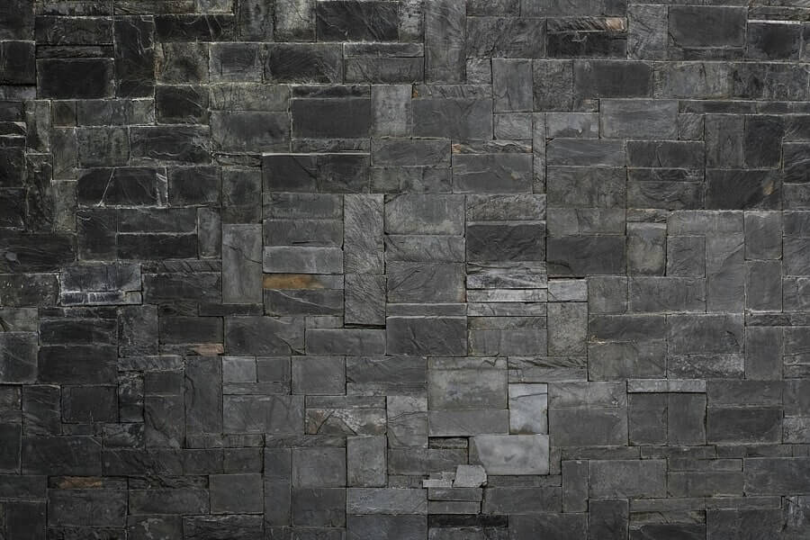 Black stone slate wall services in derby